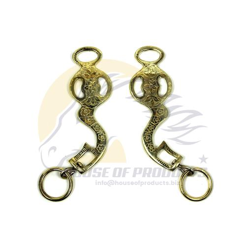 Baroque hackamore shanks