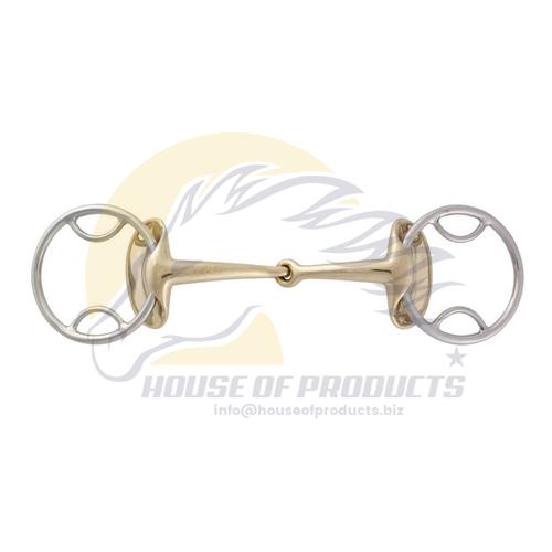 Golden Wings Bevel rings Snaffle Bit