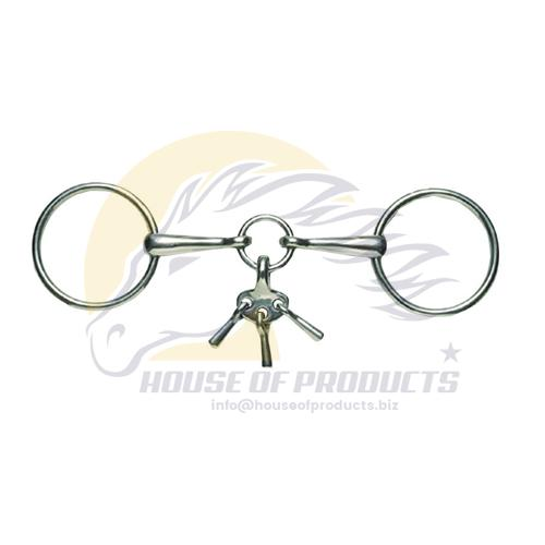Loose Ring Snaffle bit with Players