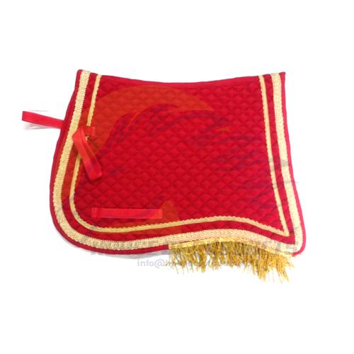 Spanish saddle pad red
