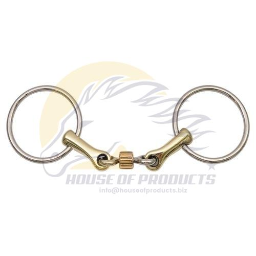 Loose Ring Snaffle Bit with Copper Roller