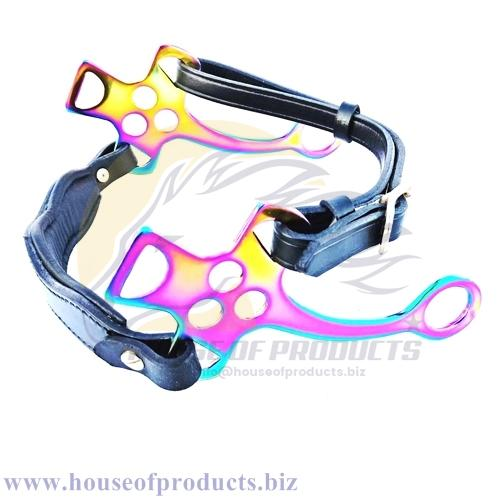 Hackamore Bitless Horse-Bit Rainbow multi color Hackamore shanks