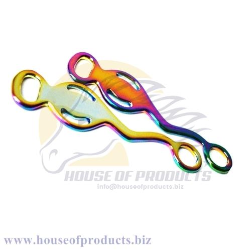 Rainbow colors Baroque hackamore shanks