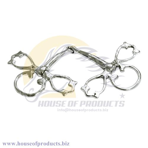 VICTORIAN FULL CHEEK SNAFFLE baroque BIT STAINLESS STEEL